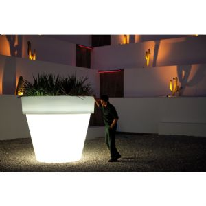 Massive illuminated flower pots with easy watering system online at potstore.co.uk